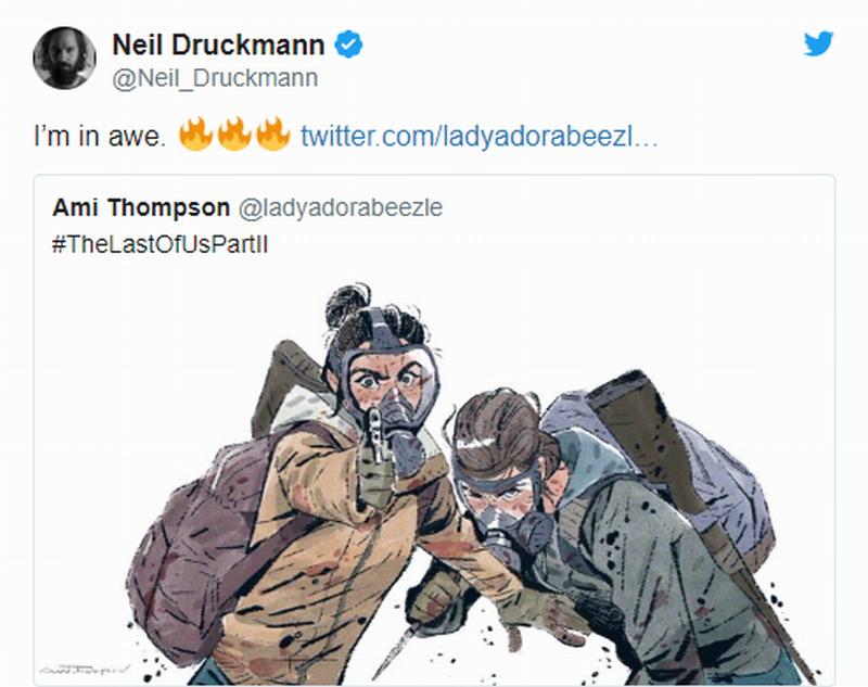 迪士尼艺术总监绘制 最后的生还者2插画 顽皮狗副总裁十分喜爱