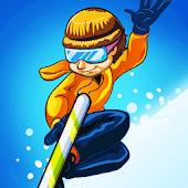 滑雪道跑步