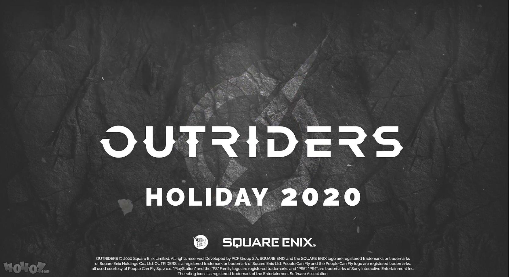 3人协作RPG《Outriders》将于2020年底发售 登录下世代主机