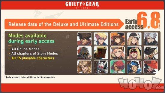 罪恶装备STRIVE抢先体验版更新 可以畅玩所有的角色以及剧情