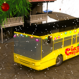 诞节雪地巴士模拟器